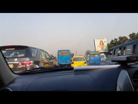 Driving in Kinshasa Congo
