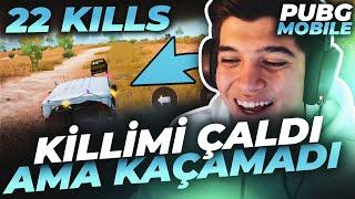 KİLLİMİ ÇALAN ADAMI ARAÇLA KOVALADIM !! | PUBG Mobile Erangel Gameplay