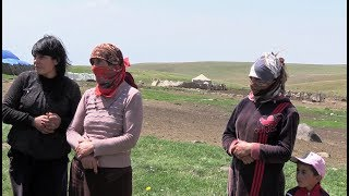 Ezids on the mountain pasture in Armenia