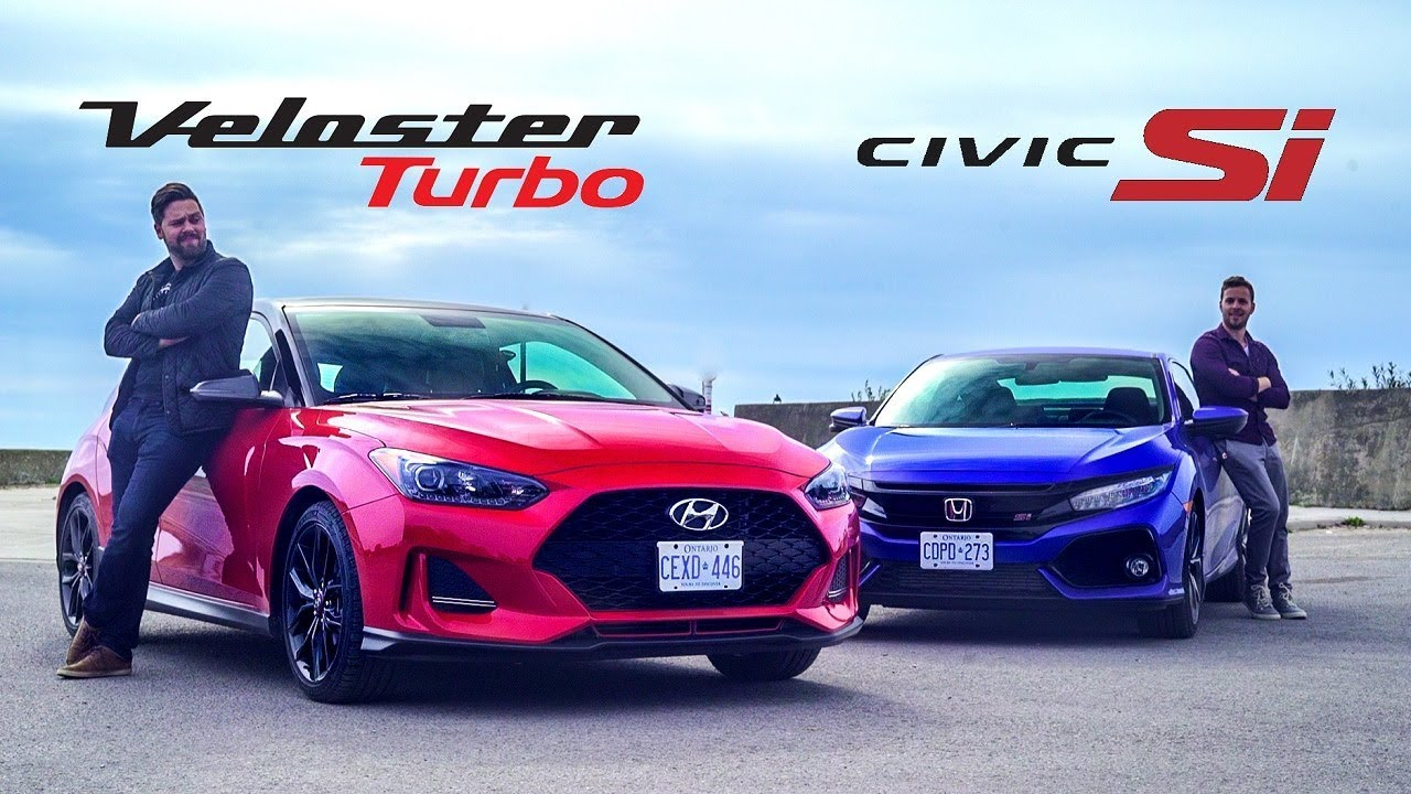 2019 Hyundai Veloster Turbo Vs Honda Civic Si Affordable Coupe