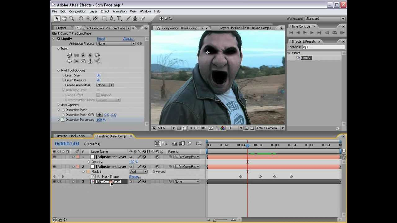 After effects demon face tutorial easy version video copilot.