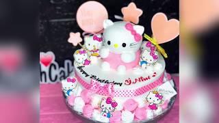 Make hello kitty 3D birthday cake | Làm bánh kem hello kitty 3D | DieuLinhcake