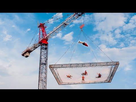 Insane Flips on the World's Biggest Trampoline | DD Squad