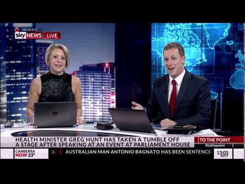 PVO & Kristina Keneally show politicians falling over then pay each other out
