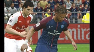 [PC] Neymar vs Arsenal - Gameplay Nouveaux Maillots 2018 PES 2017