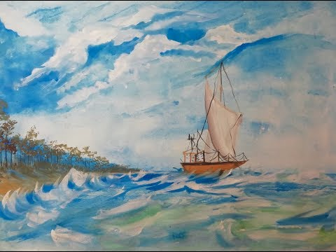 Water Colour painting. Shanto Art khulna-Bangladesh