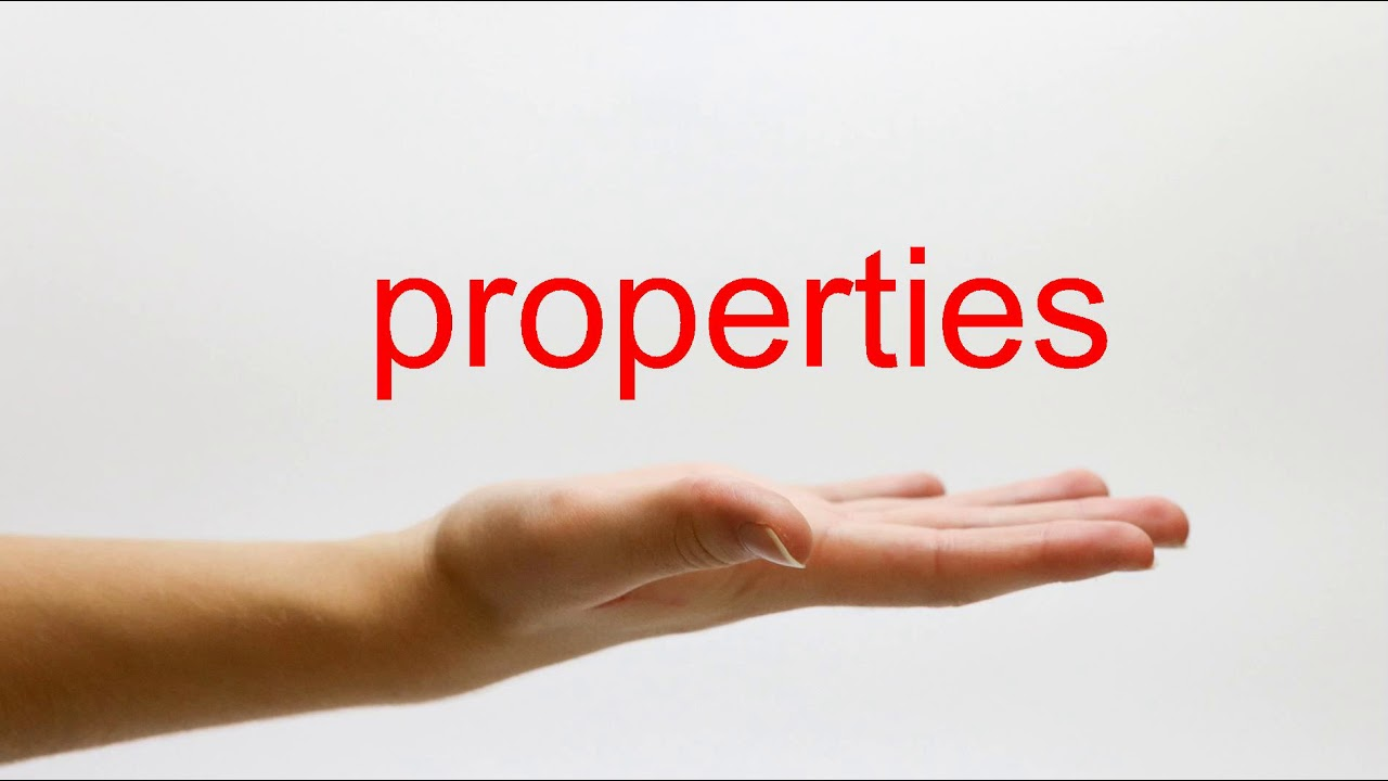 How to Pronounce properties - American English - YouTube
