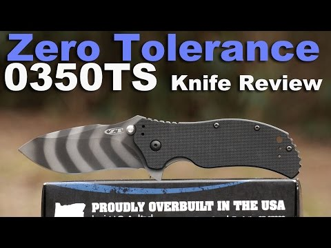 Zero Tolerance 0350TS Knife Review.  Now with 100% more Tiger Stripes!
