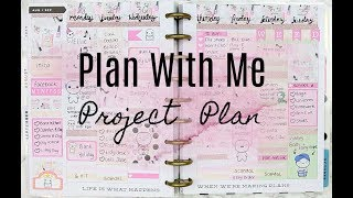 Plan with me Project plan kit // white space pwm