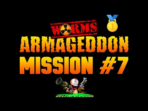 Worms Armageddon Playtrough - Mission 7 🥇 Not Mushroom Out There... 1080P - Let's play Walktrough |