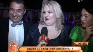Cadouri de zeci de mii de euro la nunta lui Connect-R!