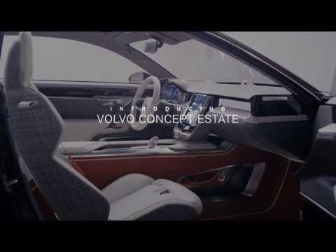 Volvo Concept Estate - interior footage