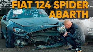 Купил битый Fiat 124 Spider из США!  Фиат Спайдер с аукциона.  Авто из США - обзор