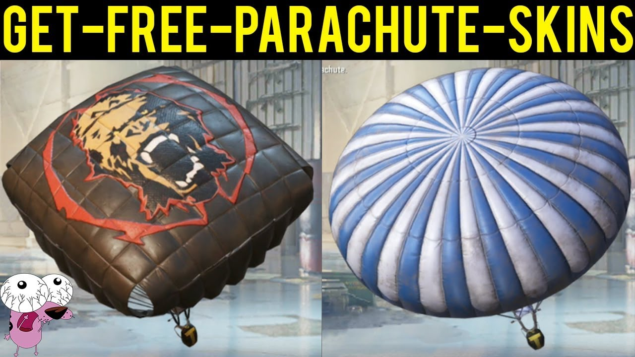 GET PARACHUTE SKINS FOR FREE IN PUBG MOBILE WITHOUT ELITE PASS