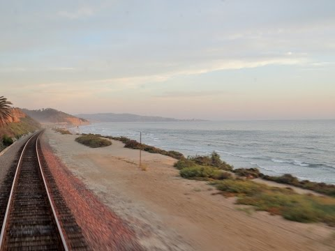 "Vintage Private Railcar Ride on the Surfline - A Backwards ""Cab Ride"" along the Ocean"