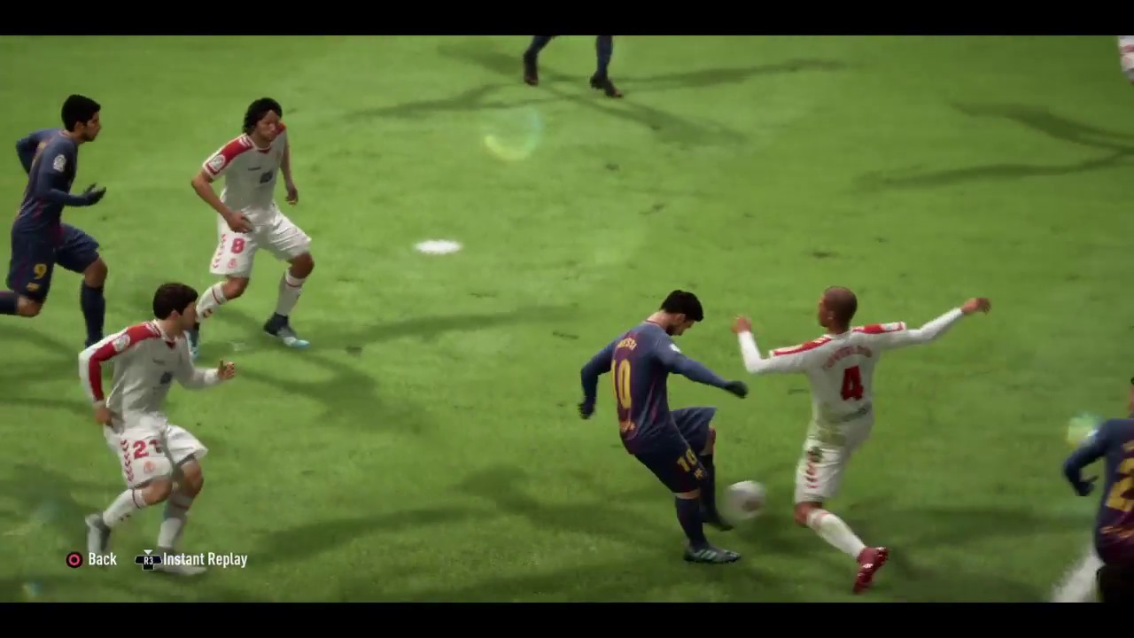 Download Messi fools the opponent's with his driven ground shot and scores a goal.
