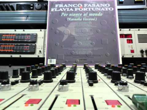 Franco Fasano & Flavia Fortunato per niente al mondo  Karaoke. Remasterd By B.v.d.M 2013