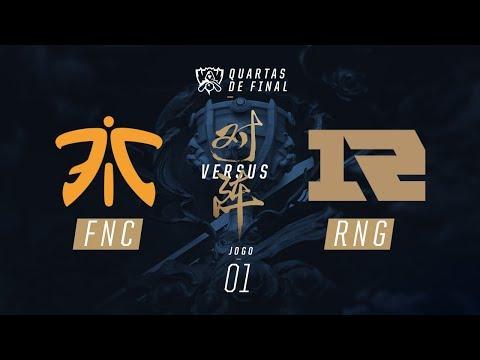 Fnatic x RNG (Mundial 2017 - Quartas de Final - Jogo 1)