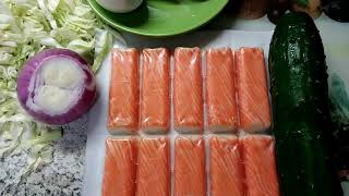 Крабовый салатик без риса😉