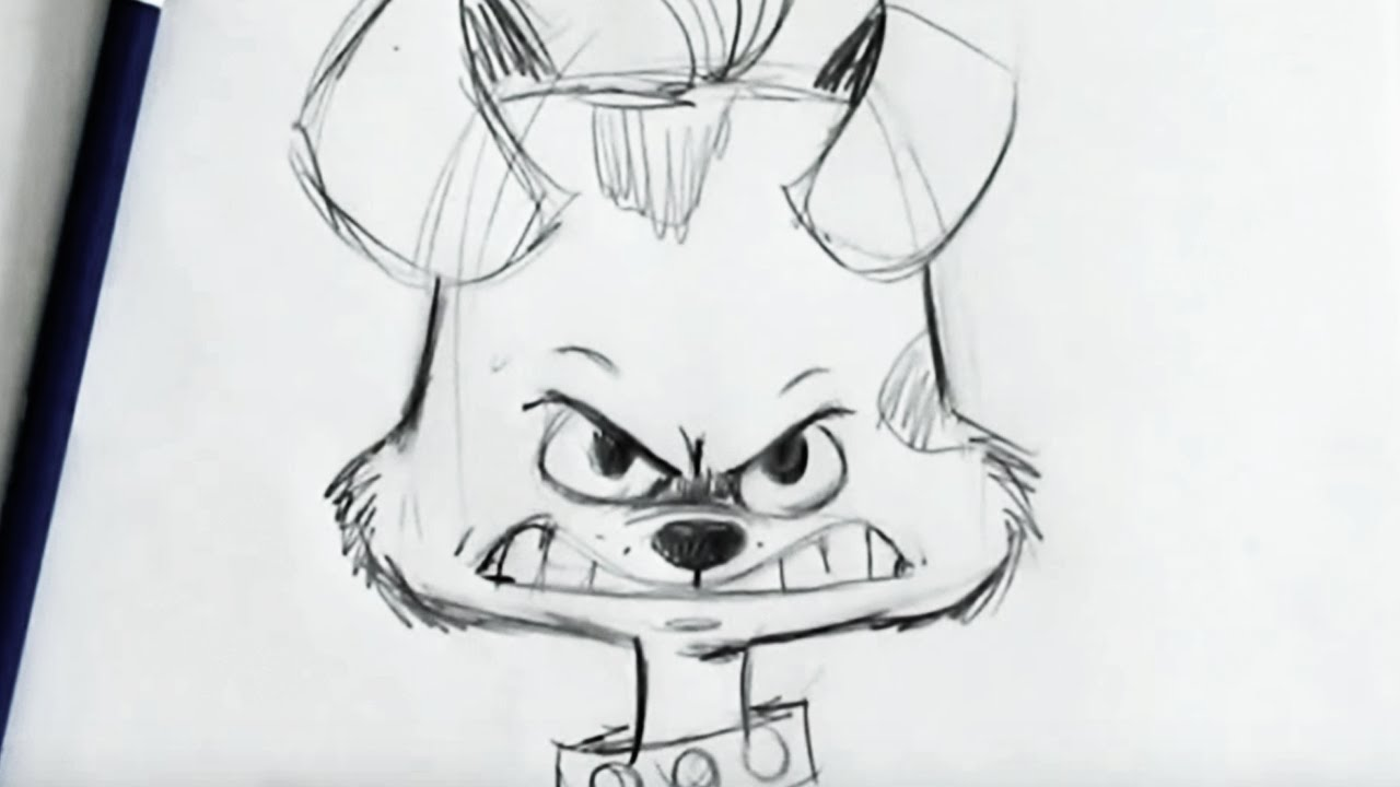 Angry Dog Face Drawing Angry Dog Drawing