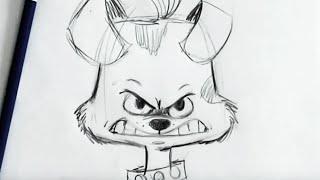Cómo Dibujar dibujos animados de Perro Para Principiantes