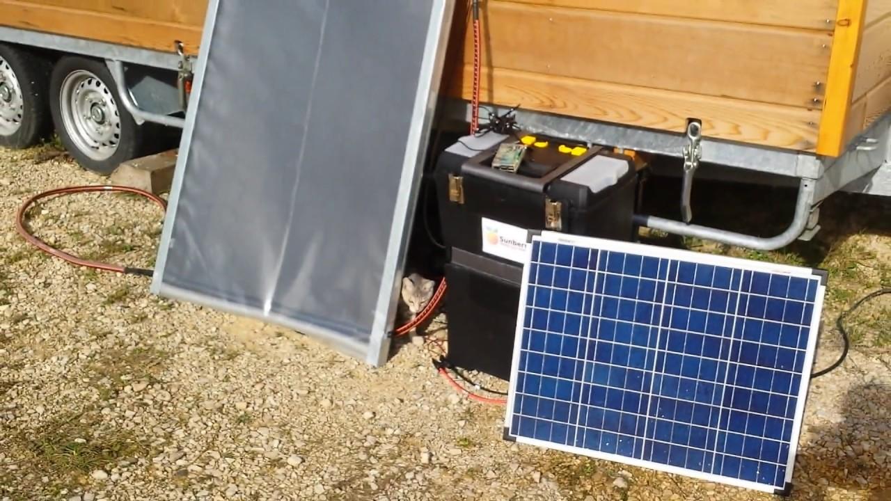 Chauffage solaire autonome youtube for Chauffage solaire