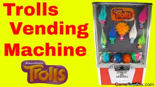 Dreamworks Trolls Blind Bags Series 2 Toy Vending Machine Surprises Fun for Kids Names Toys