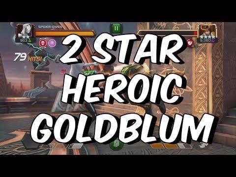 2 Star Heroic Grandmaster Goldblum Hardest Path Run - Marvel Contest Of Champions