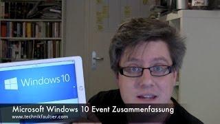 Microsoft Windows 10 Event Zusammenfassung