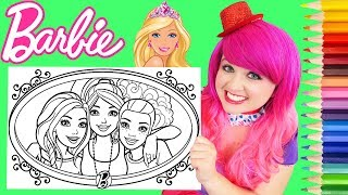 Coloring Barbie & Friends Crayola Coloring Book Page Prismacolor Colored Pencils | KiMMi THE CLOWN