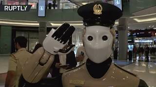 Robocop Guards Mall  World's first robot cop goes on duty in UAE