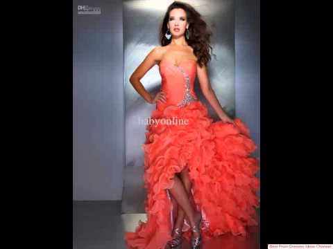 Amazing coral prom dress - The best prom dresses ever!!! - YouTube