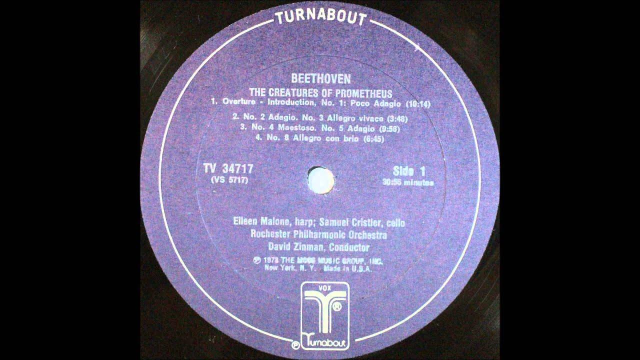 beethoven, The Creatures Of Prometheus, overture, david zinman