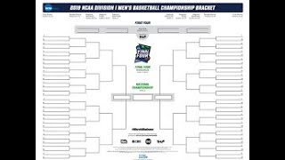 2019 NCAA Tournament Predictions!! March Madness! 100% Correct!!