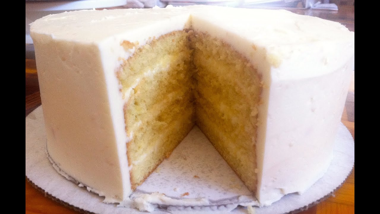 Moist Vanilla Cake Recipe No Butter
