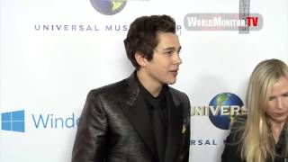 Austin Mahone arrives at Universal Music Group
