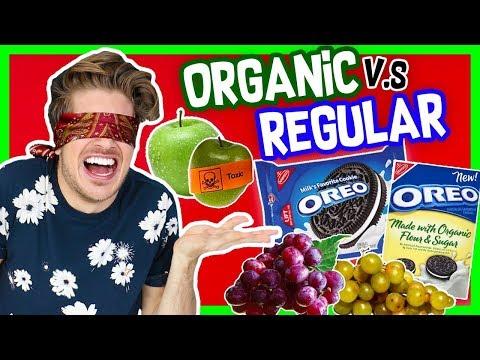 ORGANIC V.S. REGULAR FOOD TASTE TEST!