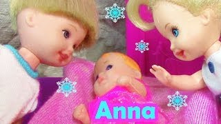 Frozen Parody Baby Princess Anna Meets Toddler Kristoff Elsa doll Barbie Movie part 5