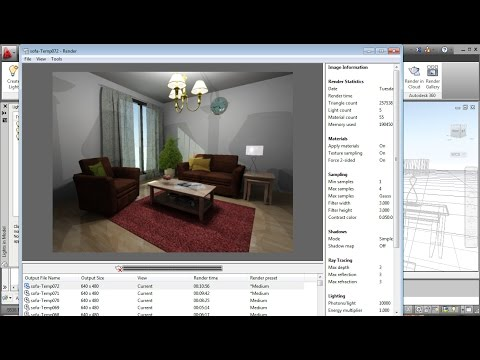AutoCAD Realistic Living Room Tutorial
