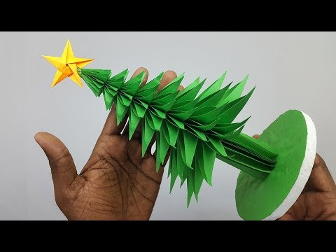 3D Paper Christmas Tree Making DIY Tutorial | How to Make a 3D Paper Xmas Tree