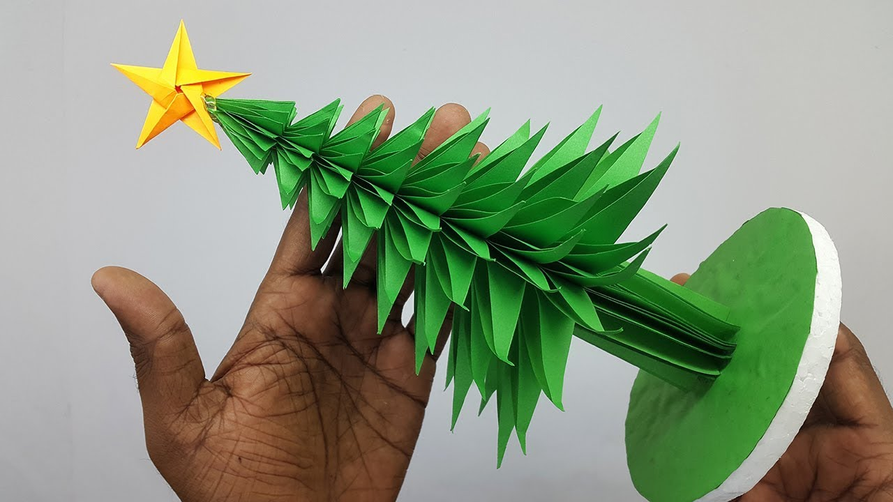 3D Paper Christmas Tree Making DIY Tutorial | How to Make ...