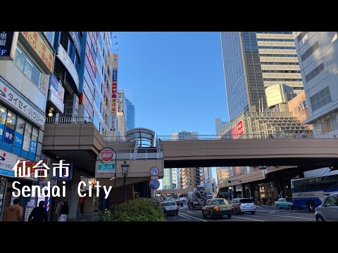 4K a-Walk&Ride around in Miyagi Sendai City (PM) 宮城県 仙台市 (午後