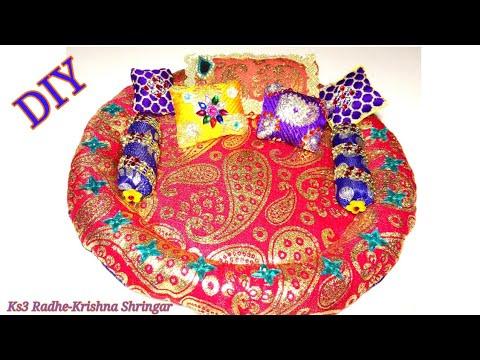 DIY - Make Gadda pillow Set for Ladoo Gopal | Diwan Set for Kanha ji | Mattress pillow - 206#