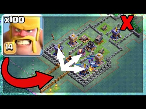100 BARBARIAN MAZE BASE! Clash of Clans TROLL Base! Submit YOURS! - CoC -