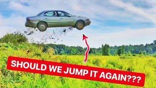 EPIC Buick LeSabre Flat Tire CAR JUMP!!! | Mark Freeman #408