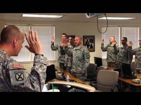 California Army National Guard OCS Class 057- Official Swear In