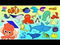 Animal ABC | learn the alphabet with 26 cartoon Ocean Animals | ABCD sea animals kids education