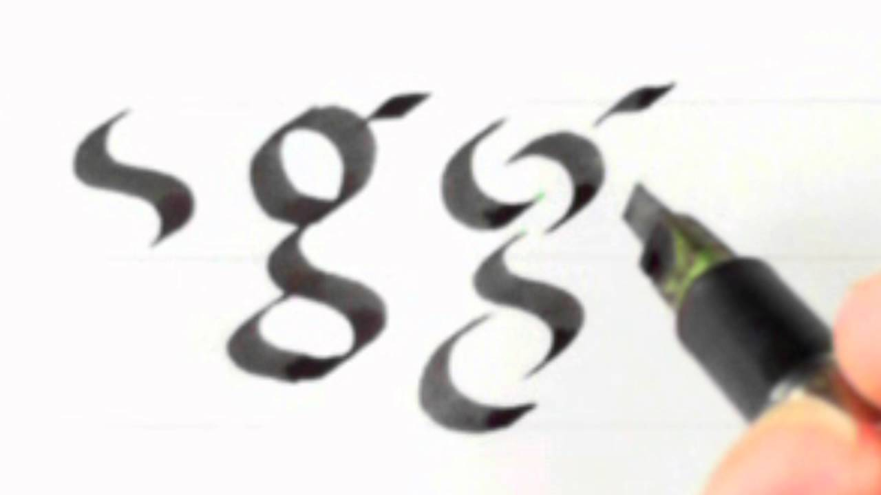 Calligraphy 22 Foundational Hand Lower Case G