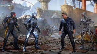 Mortal Kombat 11 RoboCop Vs Terminator & Endoskeleton Terminator Gameplay MK11 Aftermath