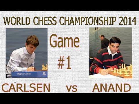World Chess Championship 2014 - Game 1 - Vishy Anand vs Magnus Carlsen